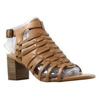 Very Volatile Womens Vertical-280 Beige Strappy Heels Size 10