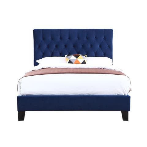 Porch & Den Delcoa Tufted Upholstered Bed