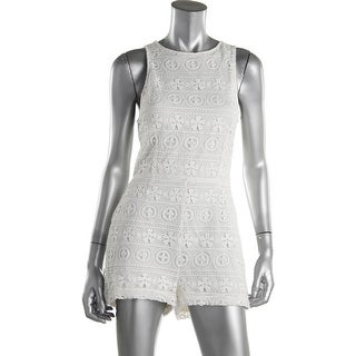 BB Dakota Womens Lace Overlay Sleeveless Romper