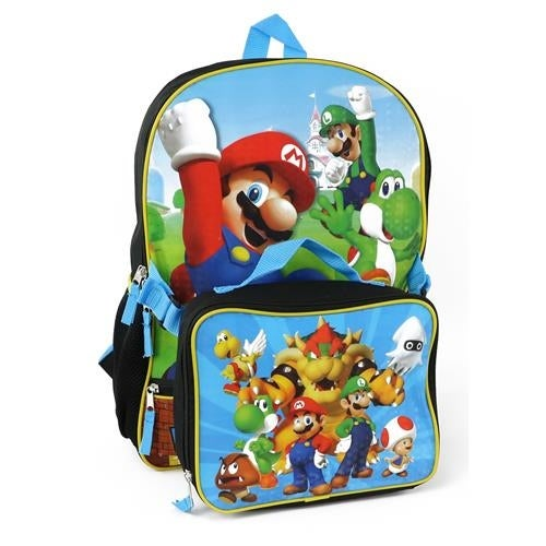ba9c2bb9f1 Shop Nintendo Boys Super Mario Backpack Lunch Bag Set - Free Shipping On  Orders Over  45 - Overstock - 18616561