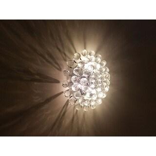 Joanne 3-light Chrome/ Crystal Ball Flush Mount