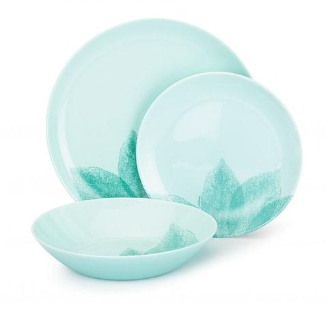 Luminarc Arpegio Turquoise 18 Pc Dinnerware Set for 6