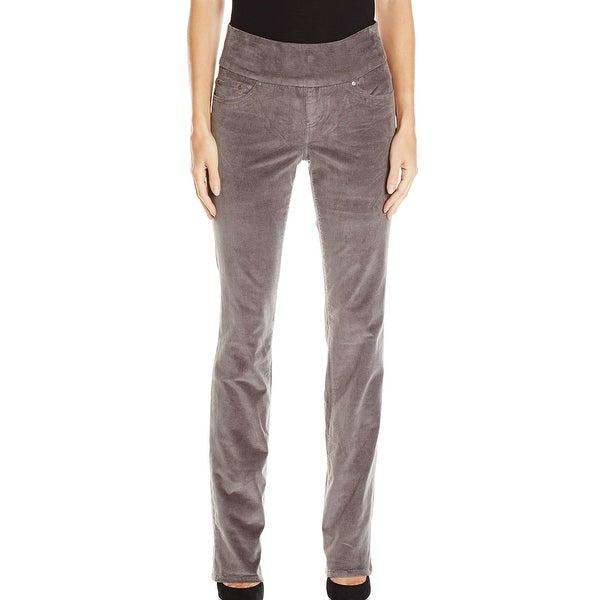 471b363a23147 JAG NEW Gray Womens Size 2 High-Rise Pull-On Straight Leg Corduroy Pants