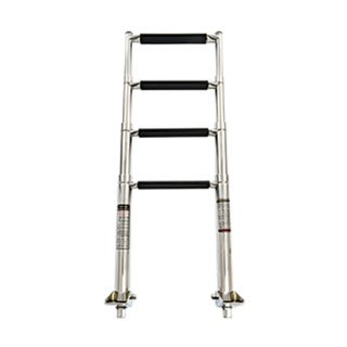 """Link to 16"""" Silver and Black 4-Step Telescoping Swim Ladder Similar Items in Swimming Pool Store"""