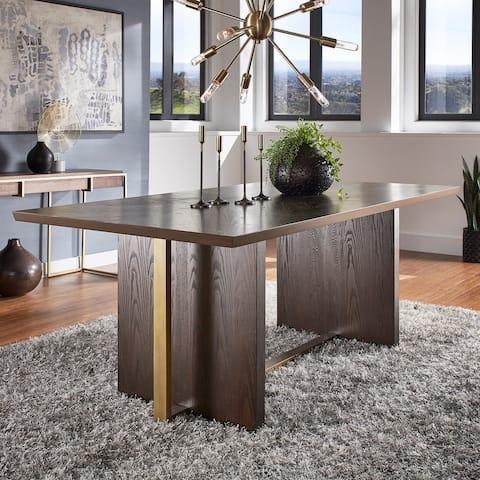 "Andrea Espresso 78-inch Rectangular Dining Table by iNSPIRE Q Modern - 78"" Rectangular Dining Table"