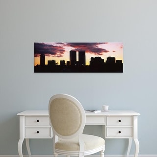 Easy Art Prints Panoramic Images's 'Silhouette of skyscrapers, Century City, Los Angeles, California' Canvas Art