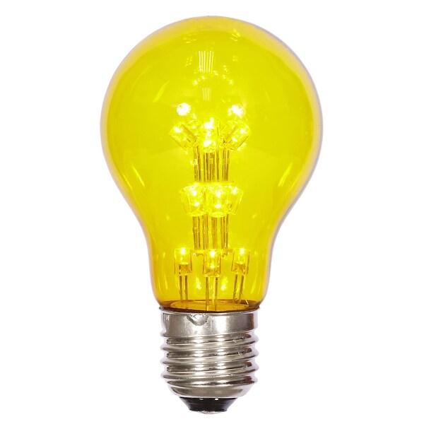 A19 LED Yellow Transp Bulb E26 Nk Base