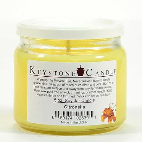 1 Pc 5 oz Citronella Soy Jar Candles 3.5 in. diameter x 2.75 in. tall