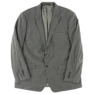 Calvin Klein Mens Two-Button Suit Jacket Slim Fit Wool Blend