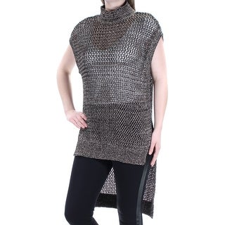 FREE PEOPLE $148 Womens New 1451 Black Crochet Cap Sleeve Tunic Top S B+B