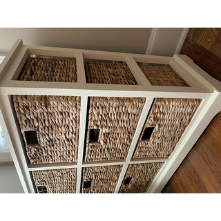"Safavieh Keenan Distressed White 6-Drawer Wicker Basket Storage Chest - 32.1"" x 13.4"" x 29.5"""