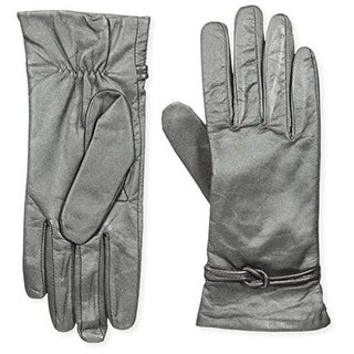 Isotoner Womens Driving Gloves Leather Knot - 7