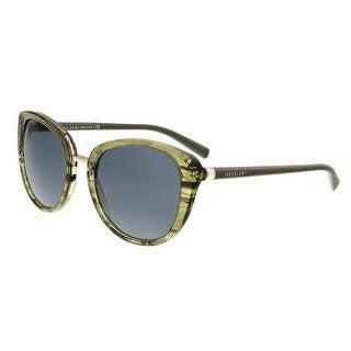 Bulgari BV8177 539887 Green Cateye Sunglasses - 53-20-140