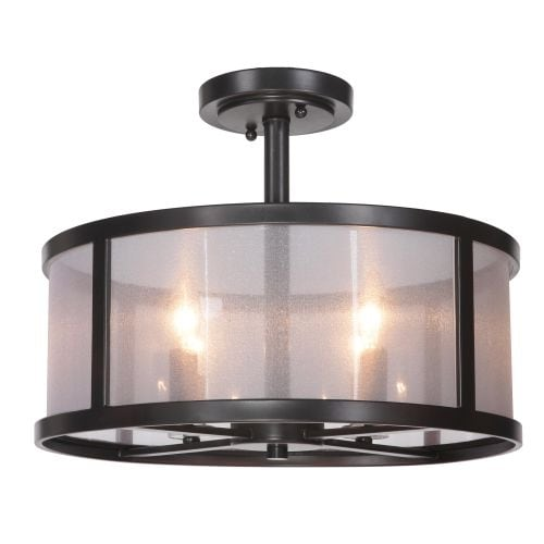 Jeremiah Lighting 36754 Danbury 4 Light Semi-Flush Ceiling Fixture