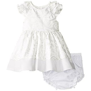 Rare Editions Infant Satin Special Occasion Dress - 6 mo