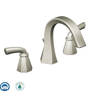 Moen TS448 Double Handle Widespread Bathroom Faucet From The Felicity  Collection   Pop Up Drain