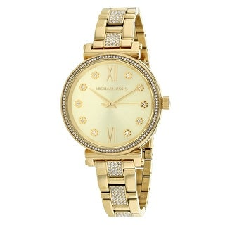 Michael Kors Women's Sofie Gold Dial Watch - MK3881