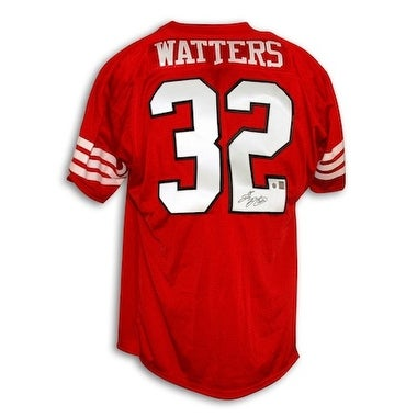 67d2706ce Shop Autographed Ricky Watters San Francisco 49ers Red Throwback Jersey -  Free Shipping Today - Overstock.com - 13072980