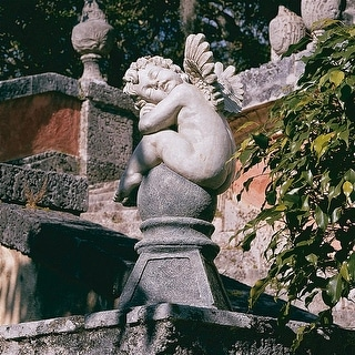 Design Toscano Balancing a Dream Cherub Garden Statue