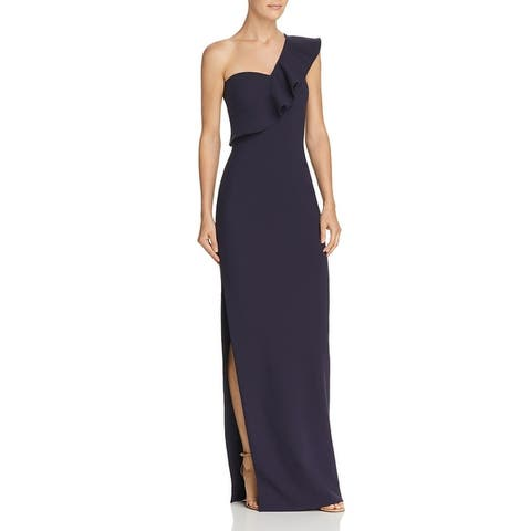 Likely Womens Halsey Formal Dress Ruffled One Shoulder - Navy