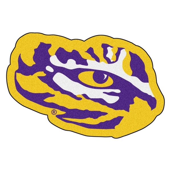 Shop NCAA Louisiana State University Tigers Mascot Novelty Logo Shaped Area  Rug - Free Shipping Today - Overstock - 22627739 d8213efb8