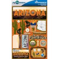 Jet Setters Dimensional Stickers-Arizona