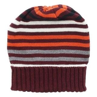 Missoni Maroone Knitted Beanie Wool Blend Hat