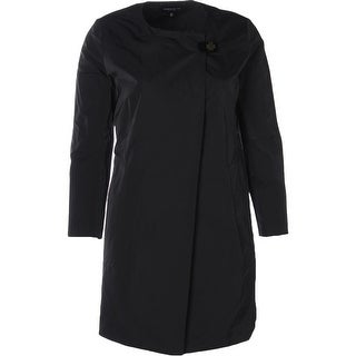 Lafayette 148 Womens Helene Raincoat Toggle Solid