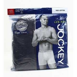 Jockey Black Low Rise 4Pack Mens Small S Assorted Color Boxer Brief