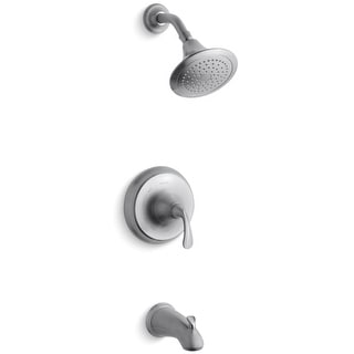 Kohler K-TS10274-4E  Forte Single Handle Tub and Shower Valve Trim with Sculpted Metal Lever Handle, 2.0 GPM Single Function