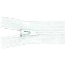 """White - Ziplon Coil Zipper 14"""""""