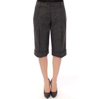 Dolce & Gabbana Dolce & Gabbana Gray wool shorts pants - it40-s
