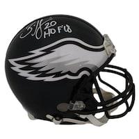 25b2f91795b Shop Brian Dawkins Philadelphia Eagles Autographed White Panel Logo ...