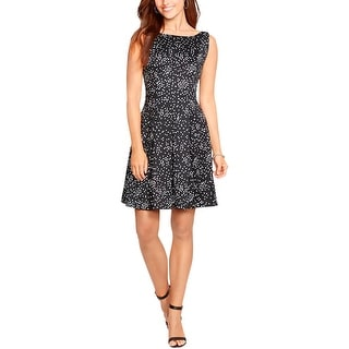 American Living Womens Casual Dress Dotted Fit & Flare
