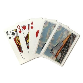 Chicago, Illinois - The Hiawatha Railroad Train - Vintage Halftone (Playing Card Deck - 52 Card Poker Size with Jokers)