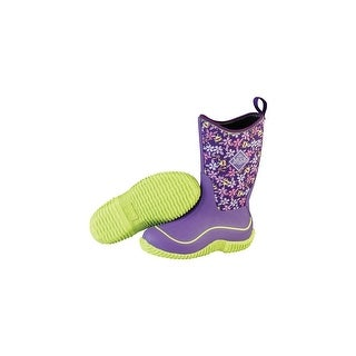 Muck Boots Purple Frogs Childs Hale w/ Diamond Tread Outsoles - Size 10