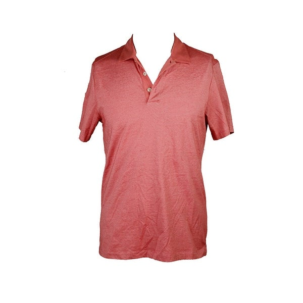 Perry Ellis Red Short-Sleeve Fine-Stripe Performance Polo Shirt S