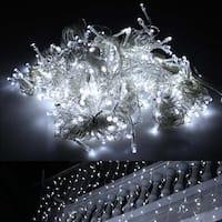 9.84ft*9.84ft Connectable 416 LED Lights String Lighting Christmas White w/ 8 lighting modes