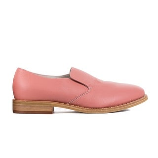 Brunello Cucinelli Pink Pebbled Leather Slip Ons