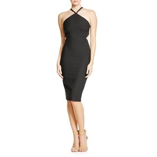 Elizabeth and James Womens Riza Cocktail Dress Cut-Out Halter