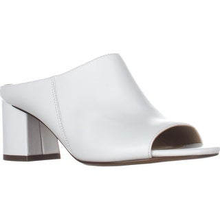 naturalizer Cyprine Slide Mule Peep Toe Sandals, White