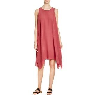 Eileen Fisher Womens Casual Dress Jewel Neck Silk