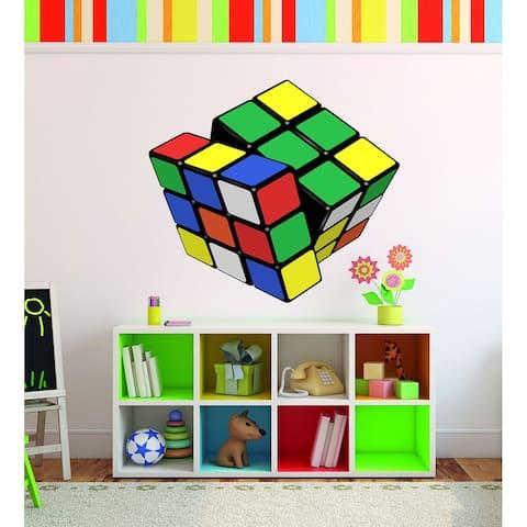 Rubik's Cube Wall Decal, Rubik's Cube Wall sticker, Rubik's Cube wall decor