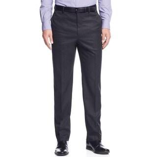 Calvin Klein Mens Dress Pants Herringbone Slim Fit