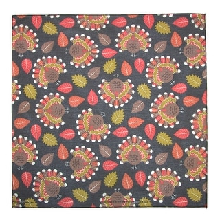 CTM® Tossed Turkey Print Thanksgiving Holiday Bandana - Brown - One Size