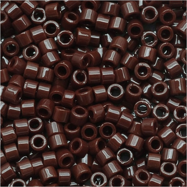 Miyuki Delica Seed Beads 11/0 'Opaque Chocolate Brown' DB734 7.2 GR