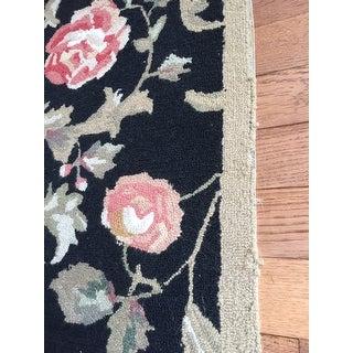 """Safavieh Hand-hooked Garden of Eden Black Wool Rug - 7'-9"""" X 9'-9"""""""