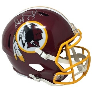 Alex Smith Signed Washington Redskins Full Size Replica Speed Helmet JSA ITP