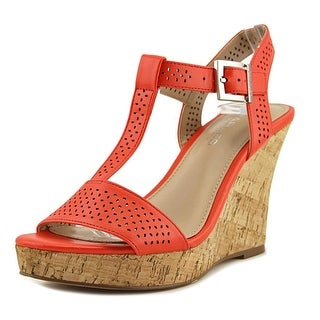 Charles By Charles David Law Women  Open Toe Synthetic Orange Wedge Sandal