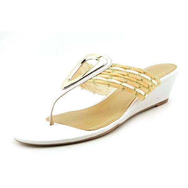 Impo Golda Women Open Toe Synthetic White Wedge Sandal